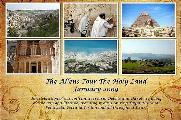 The Allens Tour the Holy Land