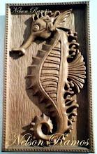 Cavalo Marinho em madeira