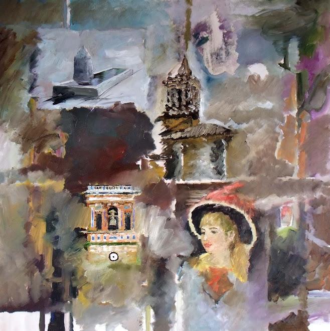 zalamea 001 óleo sobre lienzo, 75x75 cm.