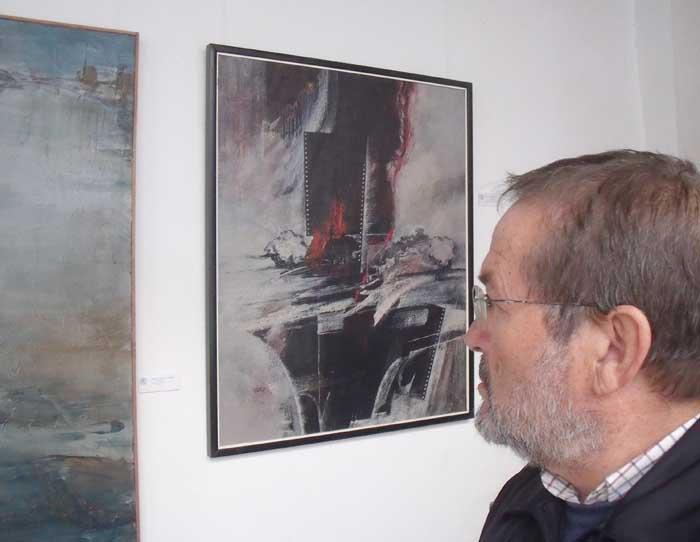 """Con """"África"""", obra selecionada en el Salon de otoño 2009 de la academia de bellas artes de sevilla"""