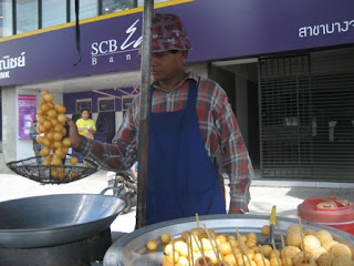 Man Frying Sweet Potato Balls @ Bangkok Street Food