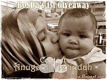 Bonda's 1st Giveaway - Contest Anugerah Terindah