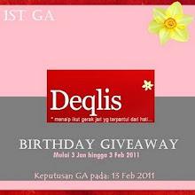 DEQLIS BIRTHDAY GIVEAWAY