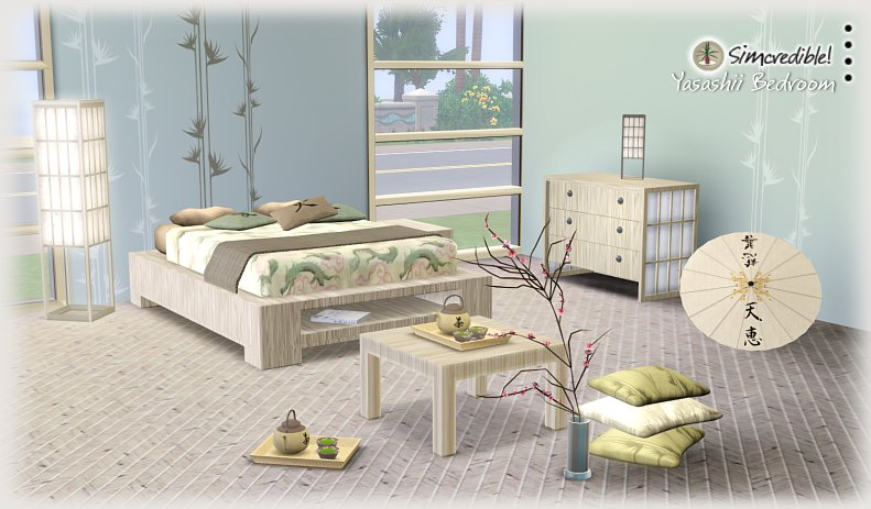 my sims 3 blog yasashii bedroom set by simcredible designs
