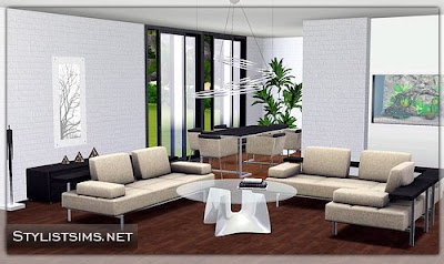 My Sims 3 Blog: Nizza Living/Dining Room by Stylist Sims