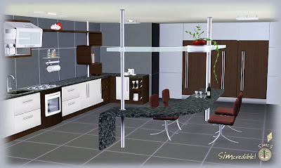 My sims 3 blog kitchen decor and plaza kitchen by for Sims 3 kitchen designs