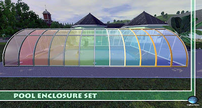 My sims 3 blog pool enclosure set green house by sim3tria for Sims 3 pool design