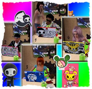My Sims 3 Blog  Tokidoki Laptop Designs by BlackSweety
