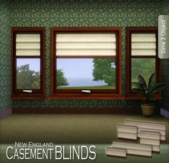 My sims 3 blog new england casement roman blinds by apple for Best blinds for casement windows
