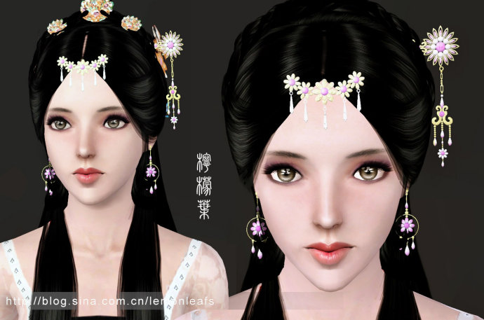 My Sims 3 Blog China Hair Accessories And Earrings By
