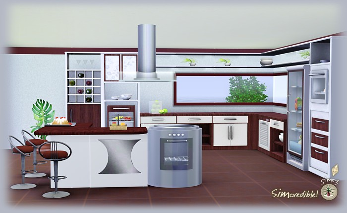 My sims 3 blog florence dining and kitchen set by for Sims 3 kitchen designs