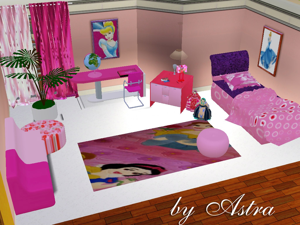 My sims 3 blog new children 39 s bedroom set by astra for 3 kids beds one room