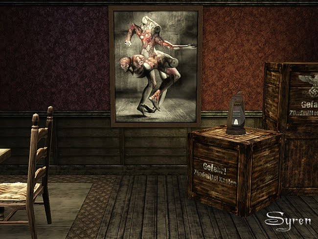 My Sims 3 Blog Silent Hill Amp Dracula Wall Decor By Syren