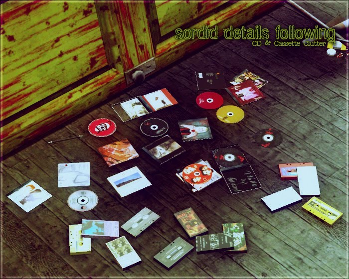 My sims 3 blog cd cassette clutter by aikea guinea Sims 3 home decor photography