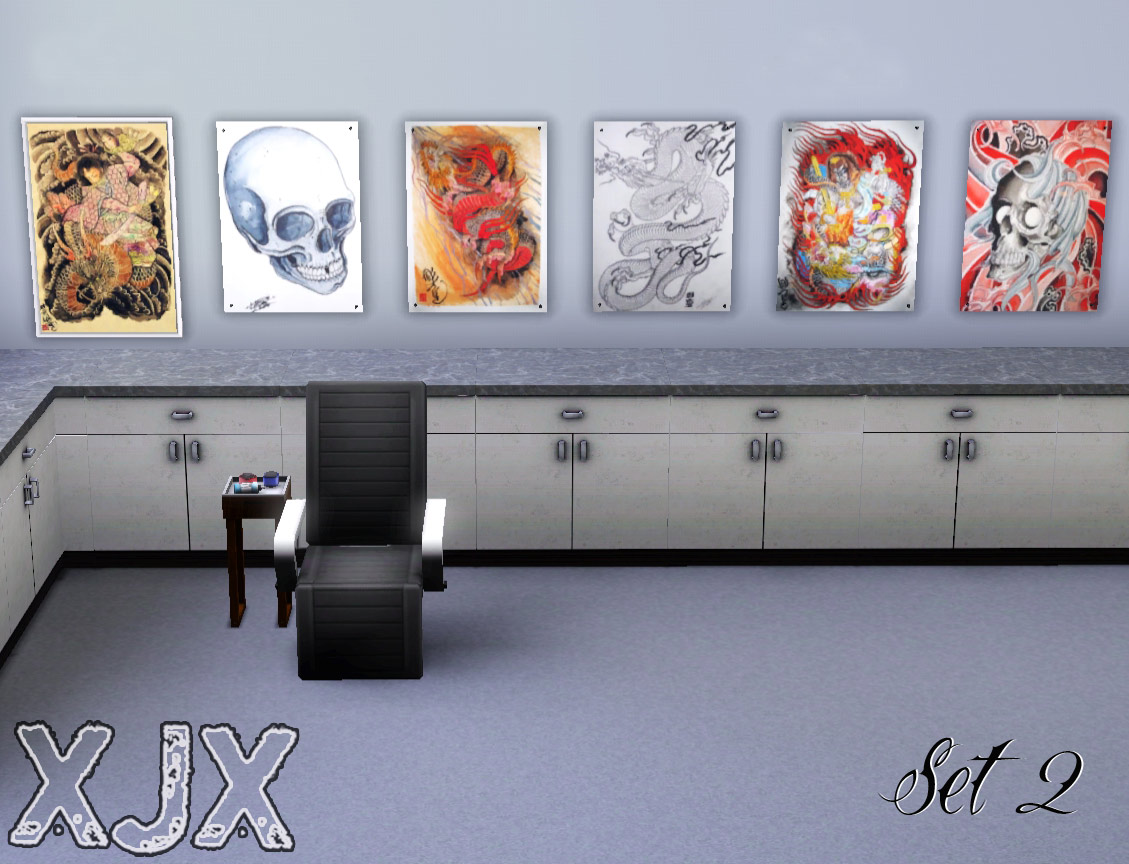 My sims 3 blog tattoo shop decoration flash art by xjonasx for Shop decoration items