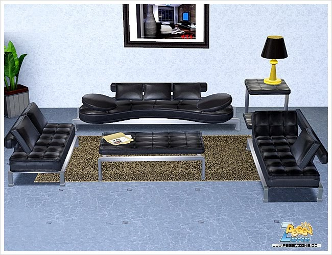 My sims 3 blog new living room set by peggy for Wg r living room sets