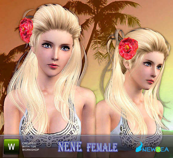 Newsea Nene Female Hairstyle+Big Flower accessory