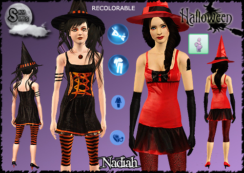Halloween Costumes, Accessories and Tattoos by Nadiah. Download at SkySims