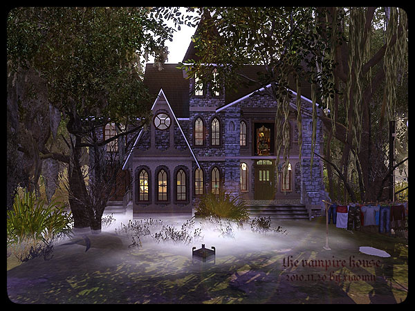 My sims 3 blog the vampire house by m 39 house for Classic house sims 3