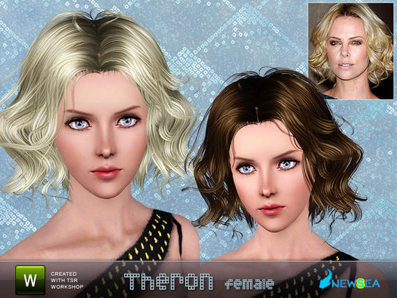 Newsea Theron Female Hairstyle. Download at The Sims Resource - Subscriber