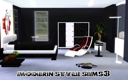 Bedroom  on My Sims 3 Blog  New Bedroom Set By Modern Style Sims 3