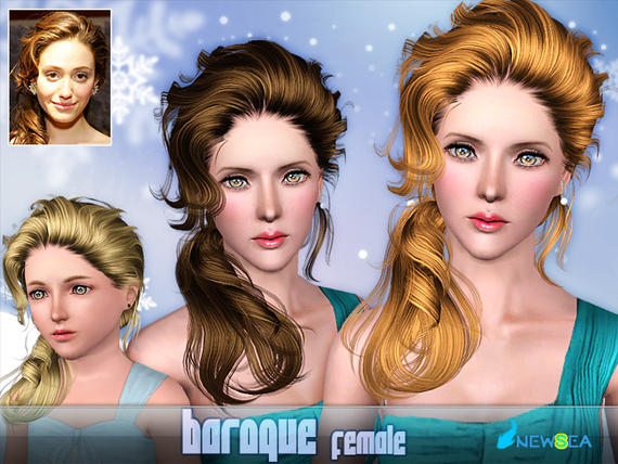 Newsea Baroque Female Hairstyle. Download at The Sims Resource - Subscriber