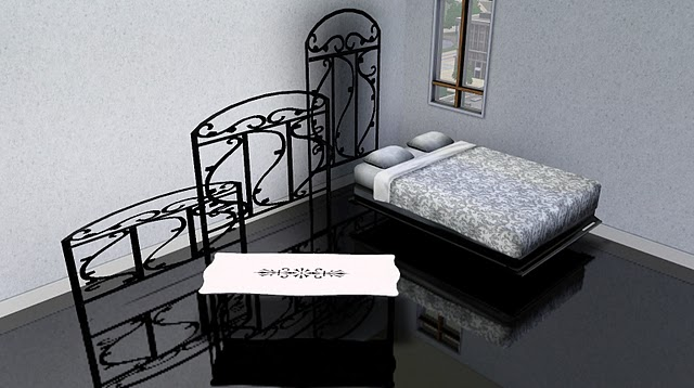 My Sims 3 Blog: Wrought Iron Bedroom Set, Fence and Paintings by SR