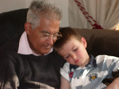 Hamada and His Grandson Manu