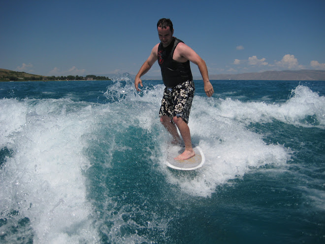 Daddy surfing