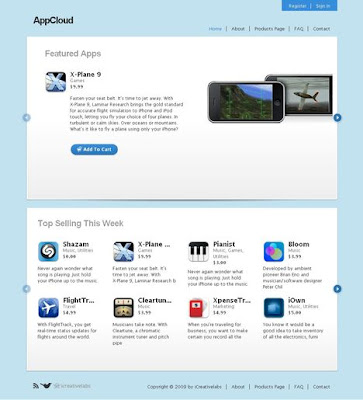 Free E-Commerce Wordpress Theme: AppCloud