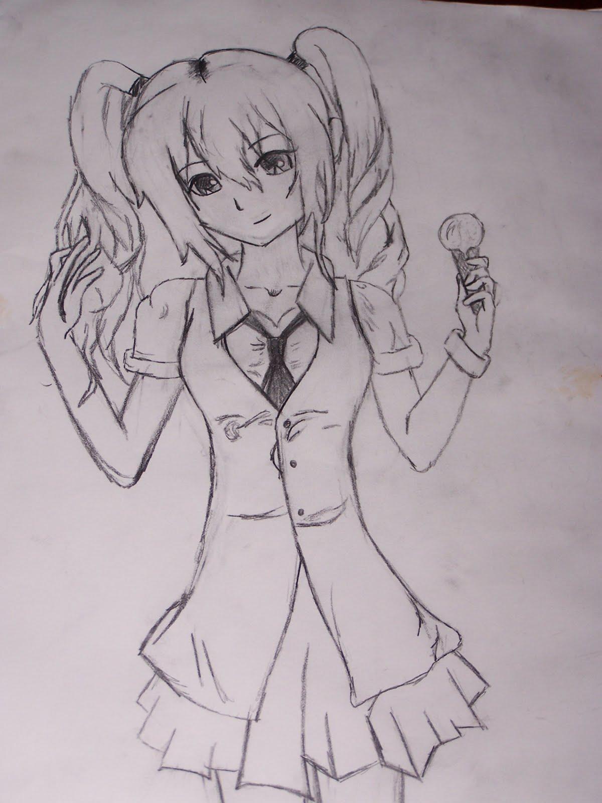Anime Girl Sketches | Gambar Rumah