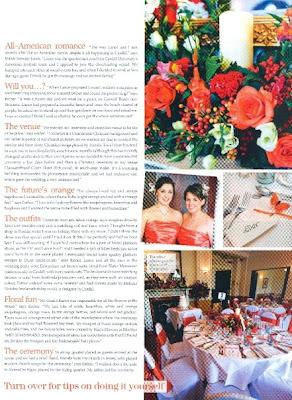 esther and lance wales wedding magazine