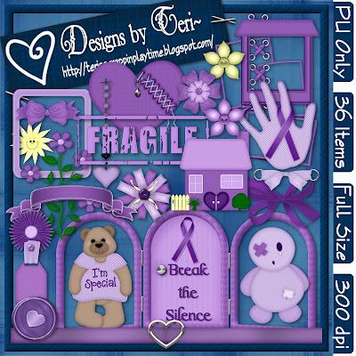 http://terisscrappinplaytime.blogspot.com/2009/10/freebie-break-silence.html