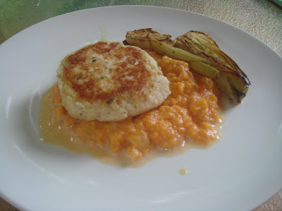 Chow and chatter cod cakes with mashed sweet potato and for Old fashioned cod fish cakes
