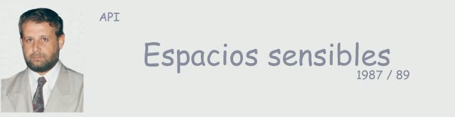 Espacios sensibles    -    Sensitive spaces