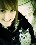 Lauren with an Owl