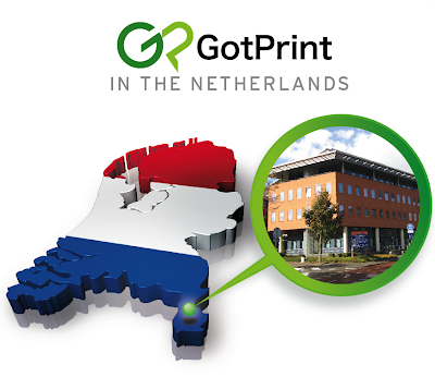 GotPrint in the netherlands office building and map of netherlands
