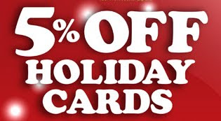 %5 off holiday cards banner from GotPrint