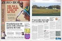 """Jornal ZERO HORA: """"HISTÓRIA NO CHÃO: o passado marcado em círculos no sul"""" (06/06/2010)"""