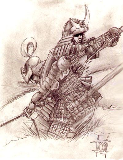 Baños Japoneses Antiguos:cuentos cortos: El samurái de tierra quemada