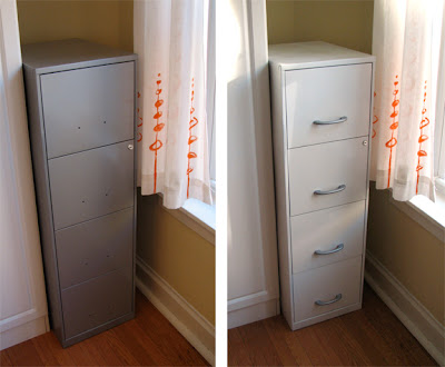 How to paint a file cabinet | How About Orange