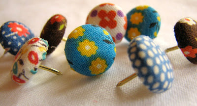 Craft Ideas Leftover Fabric on Fabric Covered Button Thumb Tacks