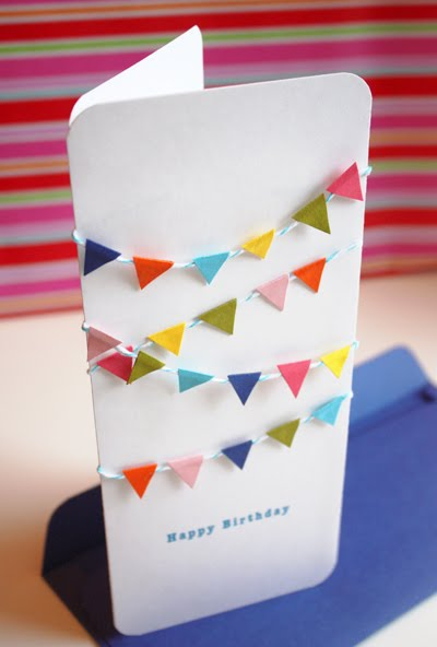 Mini bunting birthday card – I Want to Make a Birthday Card