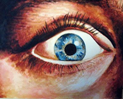 Pánico, acuarela de la serie de terror de Juan Sánchez Sotelo. Academia de dibujo y pintura Artistas6 de Madrid. Clases y cursos para aprender a pintar.