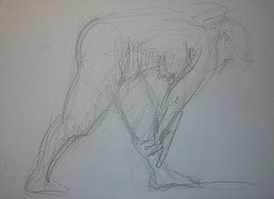 Dibujo del natural, curso de dibujo en la academia de dibujo y pintura Artistas6 de Madrid, clases para aprender a dibujar la figura humana.