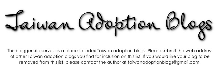 Taiwan Adoption Blogs