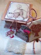 Marie Antoinette silk box