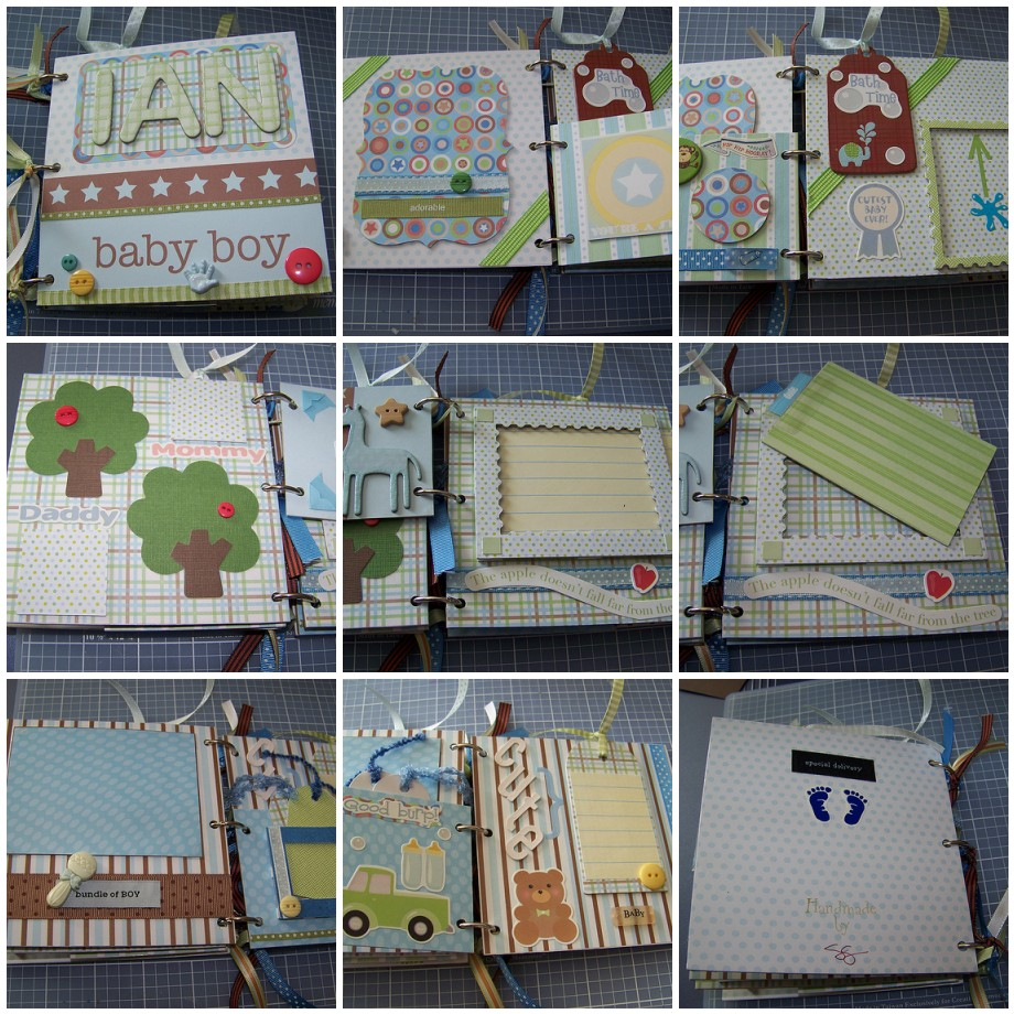 How to scrapbook baby book - Unexpected Project Mini Baby Scrapbook