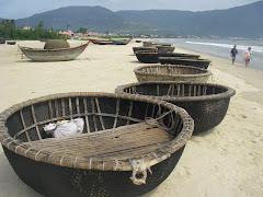Basket boats on China Beach
