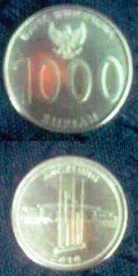 uang logam baru Rp 1000